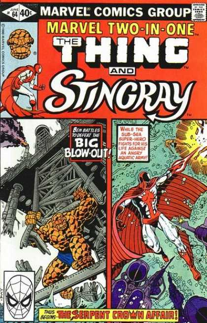 Marvel Two-In-One 64 - Marvel - Two-in-one - Thing - Stingray - The Serpent Crown Affair