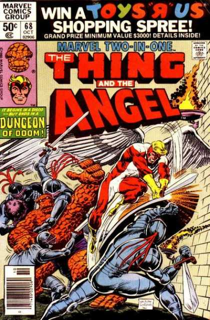 Marvel Two-In-One 68 - The Thing - Angel - Dungeon Of Doom - Marvel - Knights