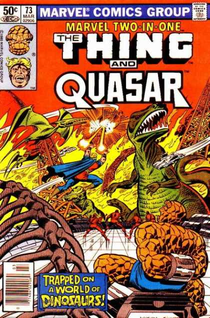 Marvel Two-In-One 73 - Marvel Two-in-one - The Thing - Quasar - Little-used Heroes - Dinosaurs - Joe Sinnott