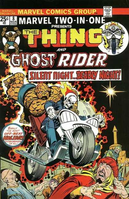 Marvel Two-In-One 8 - Marvel Comics Group - Approved By The Comics Code - Thing - Ghost Rider - Man - Joe Sinnott