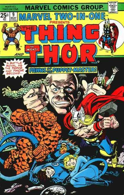 Marvel Two-In-One 9 - The Thing - The Mighty Thor - Pawns Of The Puppet-master - Fantastic Four - Bald Man