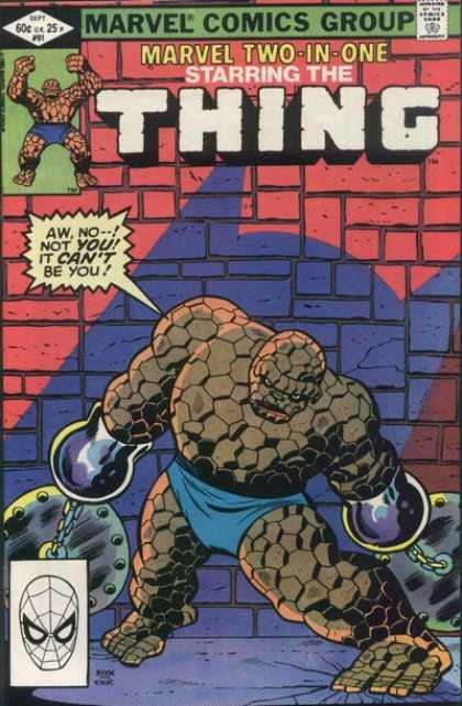 Marvel Two-In-One 91 - Charles Stone
