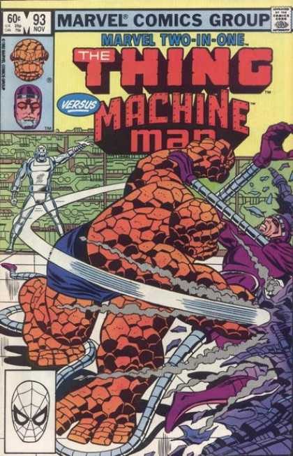 Marvel Two-In-One 93 - Marvel Comics Group - Approved By The Comics Code Authority - The Machine Man - 93 Nov - Mask