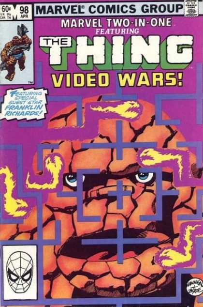Marvel Two-In-One 98 - Video Wars - The Thing - Purple Cover - Franklin Richards - Maze - John Byrne