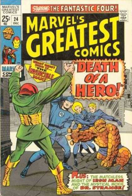 Marvel's Greatest Comics 24 - Invincible Man - Heros Death - Iron Man - Dr Strange - Matchless Might