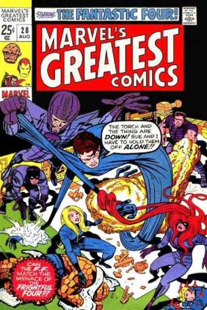 Marvel's Greatest Comics 28 - August - 25 Cents - Fantastic Four - Human Torch - Redhead