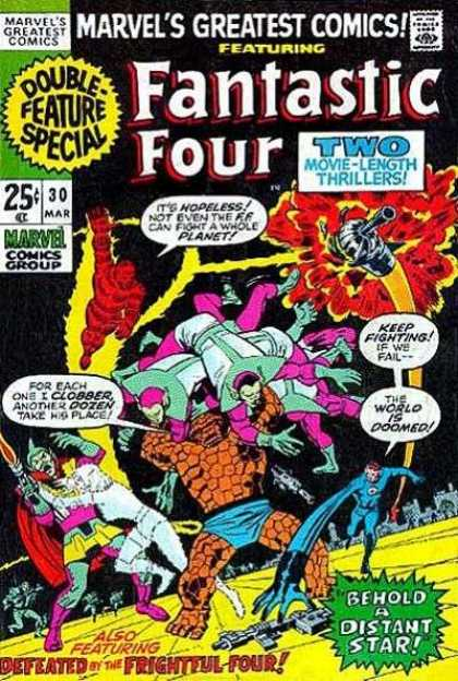 Marvel's Greatest Comics 30 - Fantastic Four - Double Feature Special - Defeated By The Frightful Four - 30 Mar - Behold A Distant Star - Sal Buscema