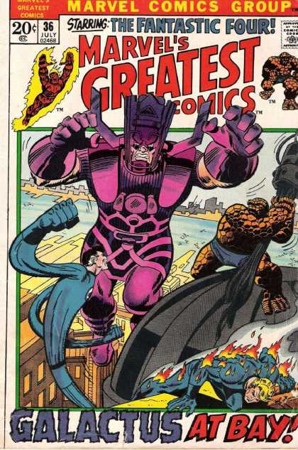 Marvel's Greatest Comics 36 - Fantastic Four - Galactus - The Human Torch - Mr Fantastic - The Thing - Sal Buscema