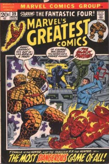 Marvel's Greatest Comics 39 - The Thing - Fireman - Elasticman - Fighting - Dangerous Game - Jim Starlin