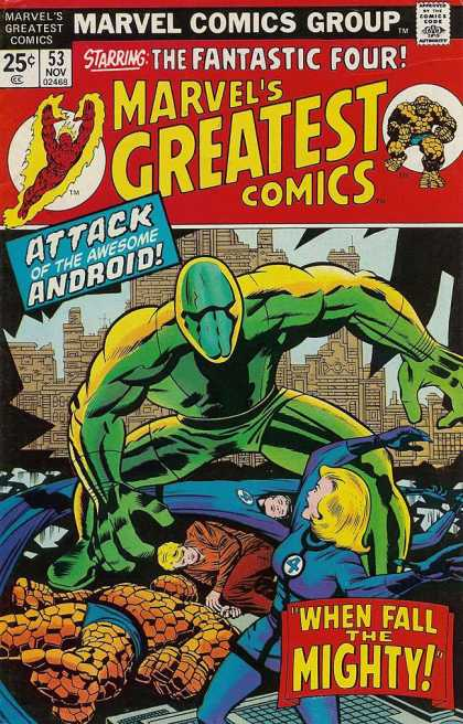 Marvel's Greatest Comics 53 - The Fantastic Four - Attack Of The Awesome Anderoid - Marvel Comics Group - 53 Nov 02468 - When Fall The Mighty - Jack Kirby, Joe Sinnott