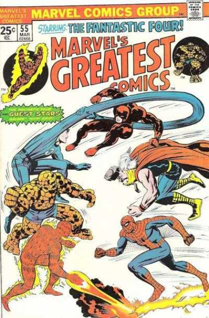 Marvel's Greatest Comics 55 - Spiderman - Human Torch - The Thing - Daredevil - Mr Fantastic - Jack Kirby, Joe Sinnott