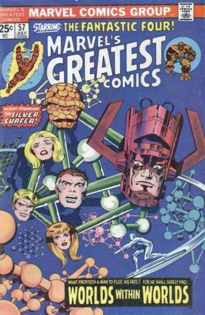 Marvel's Greatest Comics 57 - Fire - Rock - Atoms - Silver Surfer - Red Magnet