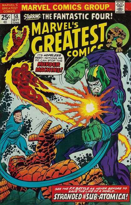 Marvel's Greatest Comics 58 - Fantastic Four - Murder Machine - Stranded In Sub-atomica - Ff Battle - Reed - Joe Sinnott