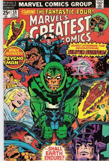 Marvel's Greatest Comics 59 - Heroes - Silver Sufer - Green - Psycho - Mr Fantastic - Jack Kirby, Joe Sinnott