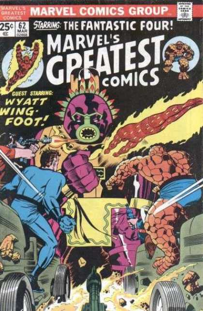 Marvel's Greatest Comics 62 - The Fantastic Four - Wyatt Wing Foot - Gun - Marvel Comics Group - Battls - Jack Kirby, Joe Sinnott
