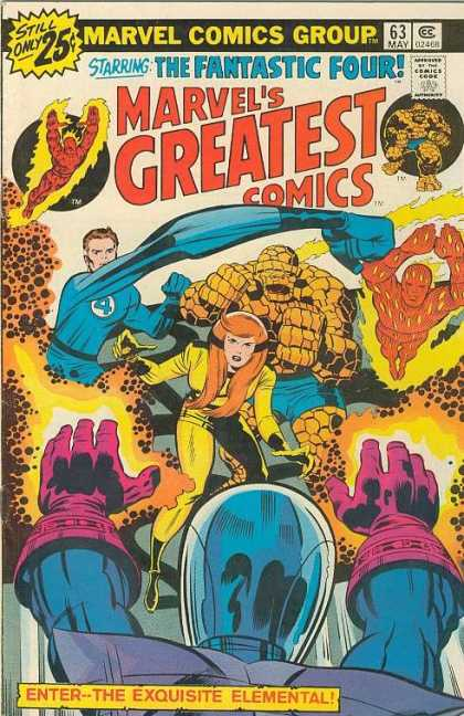 Marvel's Greatest Comics 63 - Fantastic Four - Enter - The Exquisite Elemental - Human Torch - Thing - Reed Richards - Jack Kirby, Joe Sinnott
