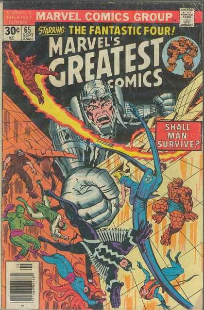 Marvel's Greatest Comics 65 - Fantastic Four - Marvel - Human Torch - Inhumans - Superhero - Jack Kirby, Joe Sinnott