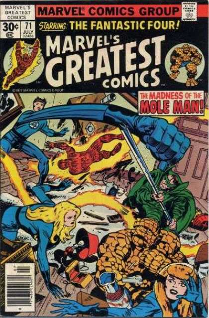 Marvel's Greatest Comics 71 - Comics Code Authority - Fantastic Four - Mole Man - Stretching Arm - July - Jack Kirby, Joe Sinnott