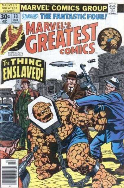 Marvel's Greatest Comics 73 - The Fantastic Four - The Thing Enslaved - Chain - Gigantic Body - Flying Man - Jack Kirby, Joe Sinnott