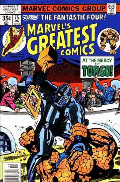Marvel's Greatest Comics 75 - Fanastic Four - The Thing - Flame Man - Torgo - Marvel Comics - Jack Kirby