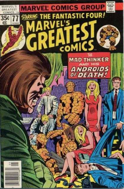 Marvel's Greatest Comics 77 - Marvel Comics Group - Human Torch - Mad Thinker - Thing - Fantastic Four - Jack Kirby