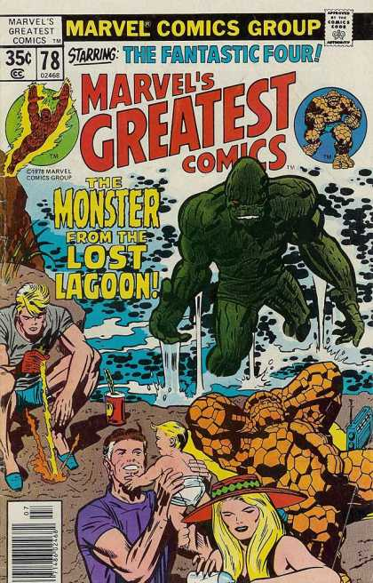 Marvel's Greatest Comics 78 - The Fantastic Four - The Monster From The Lost Lagoon - Thing - Vacation - Marvel Comics Group Edition 78 - Jack Kirby