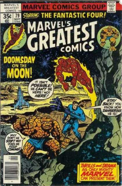Marvel's Greatest Comics 79 - The Fantastic Four - Doomsday On The Moon - Craters - Human Torch - Thing