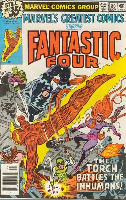 Marvel's Greatest Comics 80 - Marvel - Marvel Comics - Fantastic Four - Super Heroes - The Torch - Jack Kirby