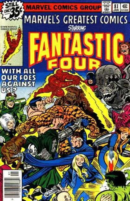 Marvel's Greatest Comics 81 - Fantastic Four - Marvel Comic - All Of Their Foes - Human Torch - Dr Doom - Joe Sinnott