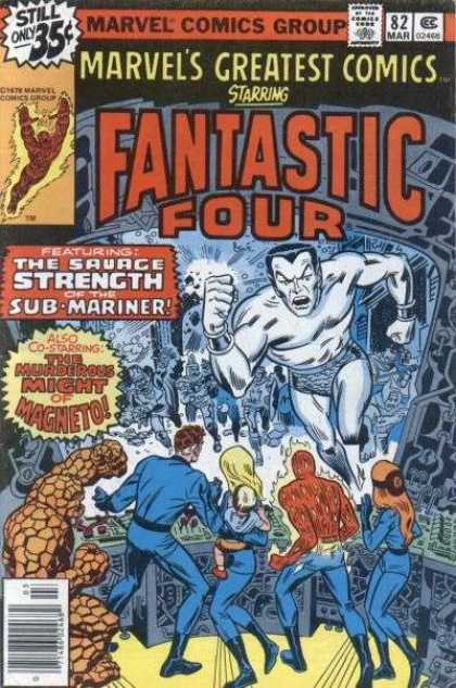 Marvel's Greatest Comics 82 - Sub-mariner - Magneto - Human Torch - Crossover - The Thing