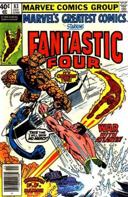Marvel's Greatest Comics 83 - War With Atlantic - Fire - Water - War - Light