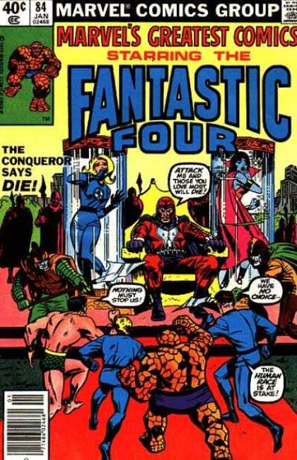 Marvel's Greatest Comics 84 - Fanstatic Four - Storm - The Thing - The Conqueror Says Die - Dr Doom