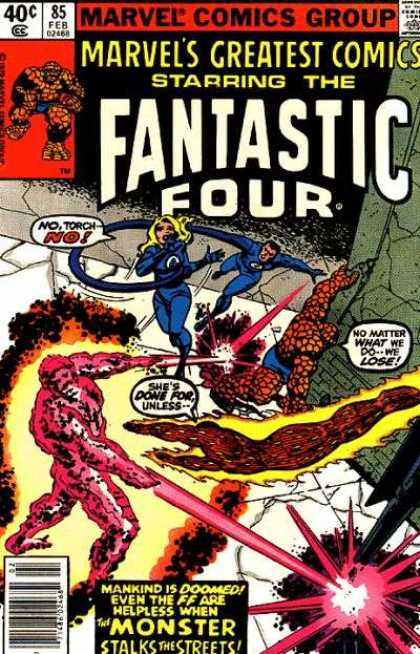 Marvel's Greatest Comics 85 - Marvel - Thing - Monster - Mr Fantastic - Susan Fantastic