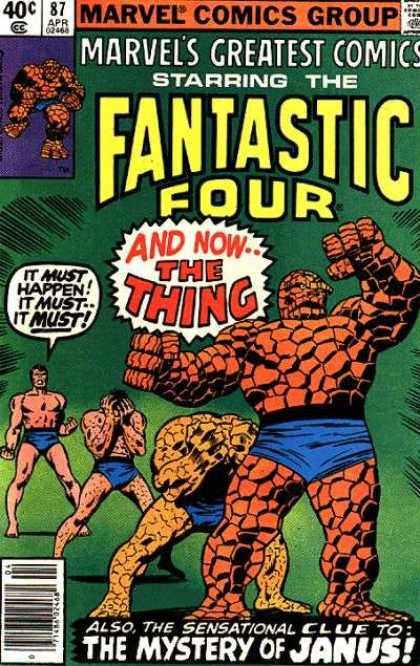 Marvel's Greatest Comics 87 - Comics Code - The Thing - Fantastic Four - The Mystery Of Janus - Mutant