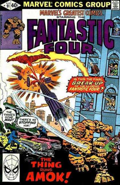 Marvel's Greatest Comics 91 - Fantastic Four - The Thing - Break-up - Building - Pillar
