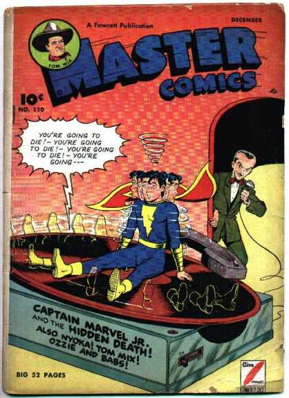 Master Comics 110 - Giant Gramaphone - Spinning - Captain Marvel Jr - Nyoka - Ozzie