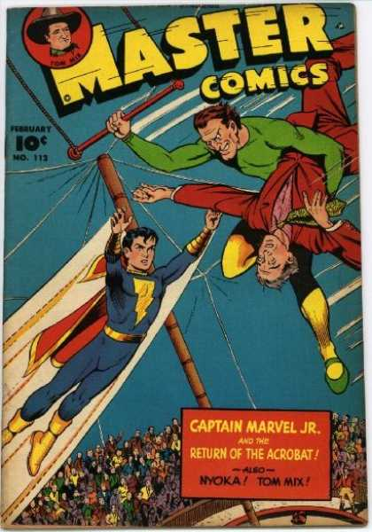 Master Comics 112 - Circus - Captain Marvel Jr - Acrobat - Tom Mix - Audience