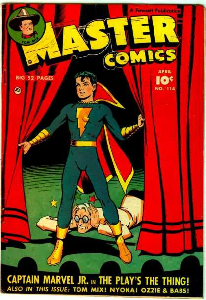 Master Comics 114 - Captain Marvel Jr - The Plays The Thing - No 114 - Tom Mix - Nyoka