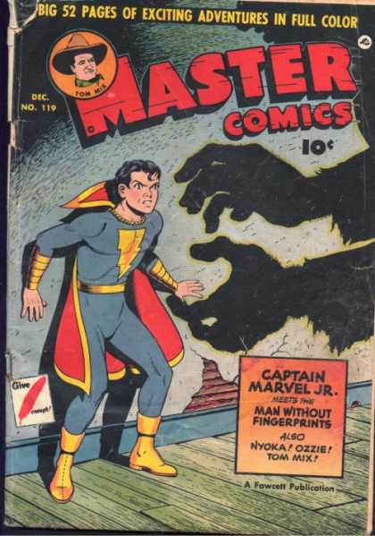 Master Comics 119 - Shadow - 10 C - Wall - Fighting - Action