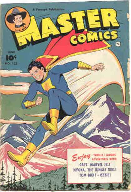 Master Comics 122 - 10 Cents - Superhero - Cape - Mountain - The Jungle Girl