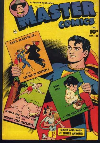 Master Comics 125 - Captain Marvel Jr - Nyoka The Jungle Girl - Tom Mix - Ozzie And Babs - Serials