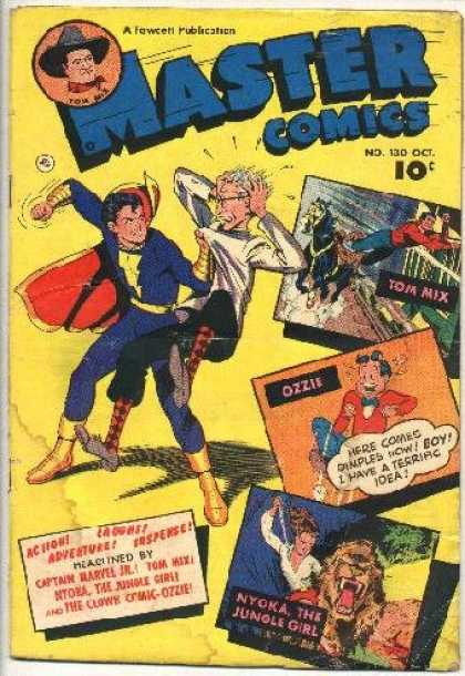 Master Comics 130 - Tom Mix Does Tricks - Jungle Adventure - Fight Evil - Laugh With Ozzie - Suspenseful