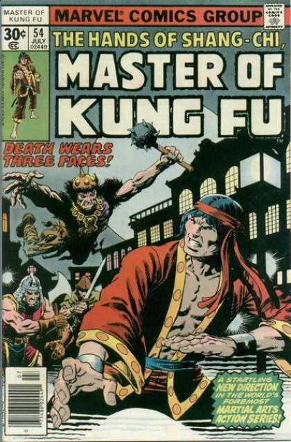 Master of Kung Fu 54 - Comics Code - Marvel - The Hands Of Shang-chi - Death Wears Three Faces - Battle - Jim Starlin