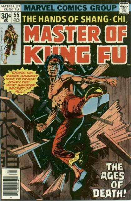 Master of Kung Fu 55 - Marvel - Shang-chi - Ages Of Death - Kick - Muscles - Paul Gulacy