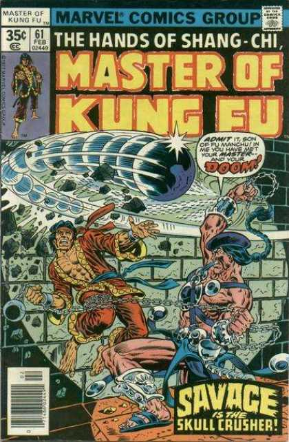 Master of Kung Fu 61 - Hands Of Shang-chi - Doom - Savage - Skull Crusher - Chains