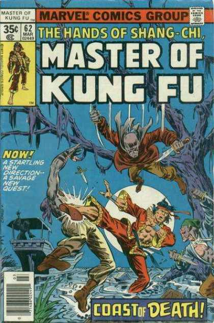 Master of Kung Fu 62 - Marvel Comics Group - The Hands Og Shang-chi - Dead Tree - Coast Of Death - A Savage New Quest