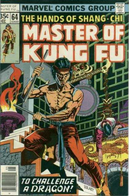 Master of Kung Fu 64 - Marvel - Bronze Age - Martial Arts - Shang-chi - To Challenge A Dragon - Paul Gulacy