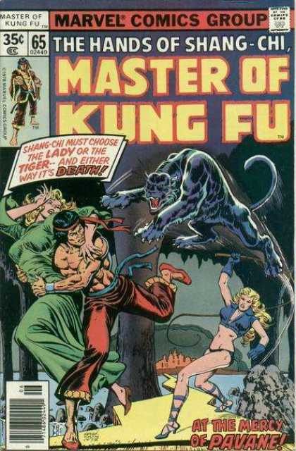 Master of Kung Fu 65 - Black Panther - Guy Saving A Girl - Woman With A Whip - Forest - Martial Arts - Ernie Chan