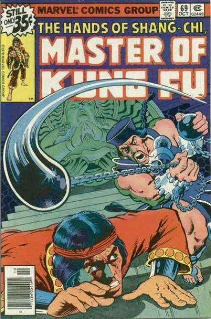 Master of Kung Fu 69 - Comics Code - Marvel - The Hands Of Shang-chi - Battle - Ninja