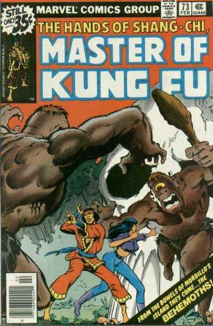 Master of Kung Fu 73 - Marvel Comics Group - 73 Feb - The Behemoths - Beasts - 2449